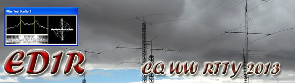 CQ WW RTTY 2013 from ED1R